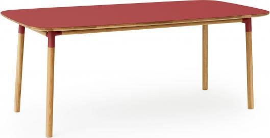 Stół Form 95x200 cm czerwony