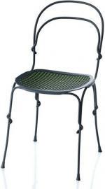 Krzesło Vigna rama ciemnoszara siedzisko zielone