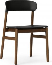 Krzesło Herit ciemny dąb czarne