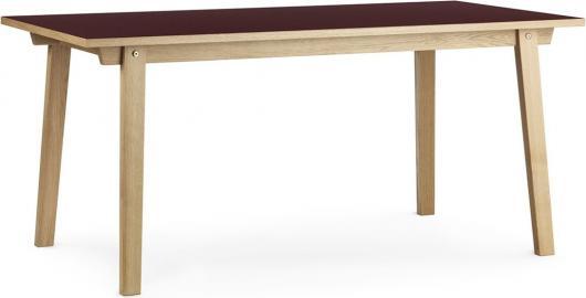 Stół prostokątny Slice 84x160 cm burgund