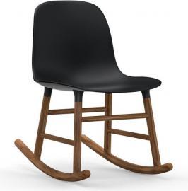 Krzesło bujane Form drewno orzechowe czarne