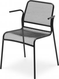 Krzesło Mira z podłokietnikami czarne