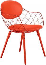Krzesło Pina czerwone, materiał Steelcut 2, nogi czerwone