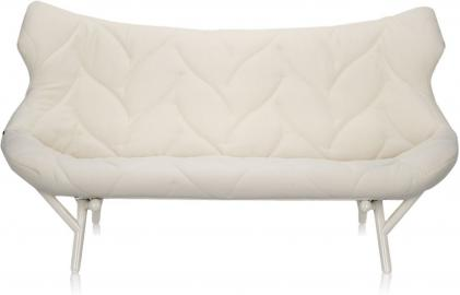 Sofa Foliage biała rama biały poliester
