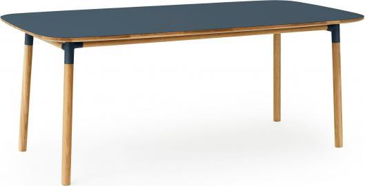 Stół Form 95x200 cm niebieski