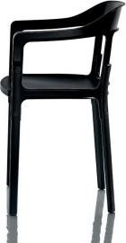 Krzesło Steelwood nogi i siedzisko czarne oparcie czarne