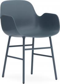 Fotel Form stalowe nogi niebieski