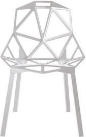 Krzesło Chair_One białe z nogami pomalowanymi na biało