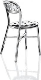 Krzesło Pipe polerowane aluminium