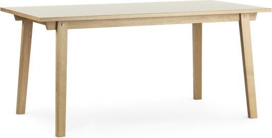 Stół prostokątny Slice 84x160 cm kremowy