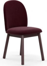 Krzesło Ace welur ciemnoczerwone
