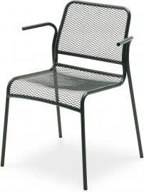 Krzesło Mira z podłokietnikami zielone