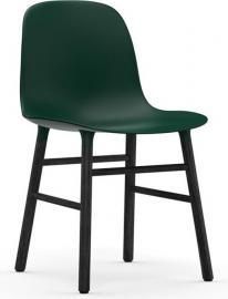 Krzesło Form zielone czarna dębowa rama