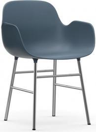 Fotel Form chromowane nogi niebieski