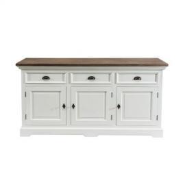 Dekoria Komoda Brighton 180x55x95cm white&natural grey