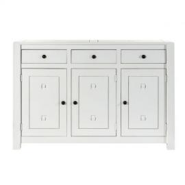 Dekoria Komoda Noa white, 3drzwi + 3szuflady 150x50x100cm