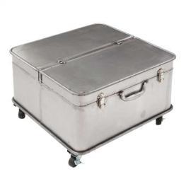 Dekoria Stolik kawowy Factory Trunk 55x55x38cm Silver