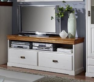 TV-Board Kiefer 150x43x63 weiß / honig gewachst / lackiert BERN #411