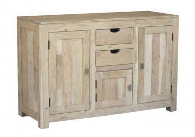 Sideboard Akazie 130x45x85 white stone getüncht NATURE WHITE #86