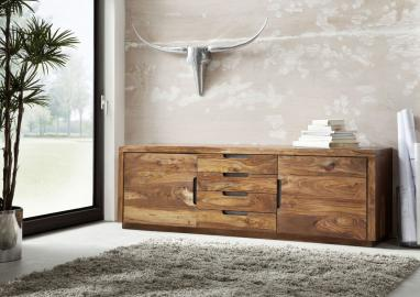 Sideboard Sheesham 205x50x65 walnuss lackiert DUKE #116