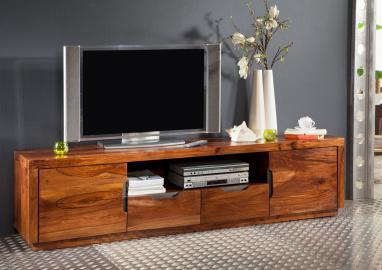 TV-Board Sheesham 200x45x50 walnuss lackiert DUKE #123