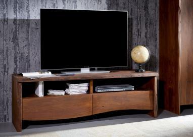 TV-Board Akazie 151x45x50 braun lackiert LIVE EDGE #208