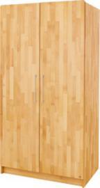 Kleiderschrank NATURA, 2-türig, FSC®-zertifizierte Buche vollmassiv, geölt holzfarben