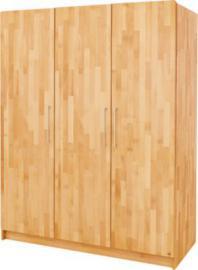 Kleiderschrank NATURA, 3-türig, FSC®-zertifizierte Buche vollmassiv, geölt holzfarben