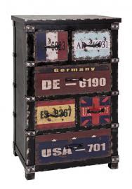 Kommode 27990 von HAKU Schwarz / Vintage