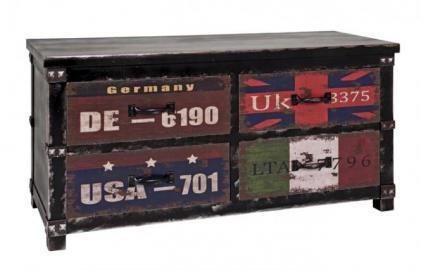 Kommode 27996 von HAKU Schwarz / Vintage