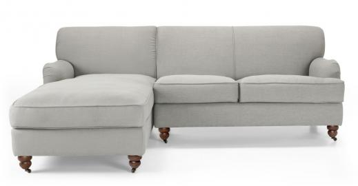 Orson Ecksofa (Récamiere links), Parisgrau - MADE.com
