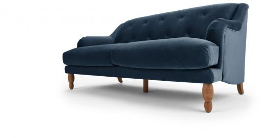 Ariana 3-Sitzer Sofa, Samt in Saphirblau - MADE.com
