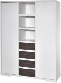 Kleiderschrank Maxx Fleetwood, 2-trg. mit Mittelregal, Dekor/MDF weiß, Holzdekor Fleetwood