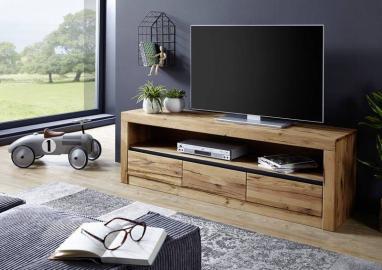 TV-Board Wildeiche 165x42x55 natur geölt MONTREUX #104
