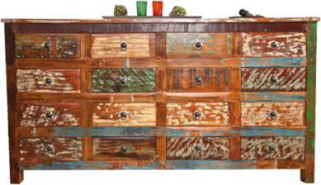 Kommode ´´Shabby´´ mit 16 Schubladen braun