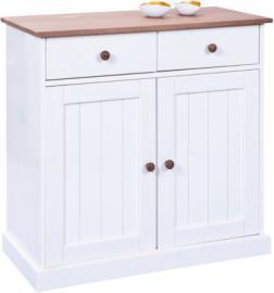 Kommode ´´Country´´ mit 2 Schubladen und Türen braun/weiß