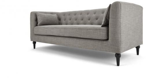 Flynn 3-Sitzer Sofa, Grau - MADE.com