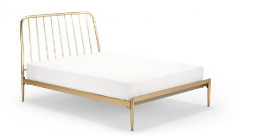 Alana Metallbett (160 x 200 cm), Messing - MADE.com