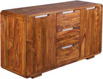 Sheesham Sideboard ´´Helba´´ Massivholz, mit 3 Schubladen und 2 Türen B145 cm braun