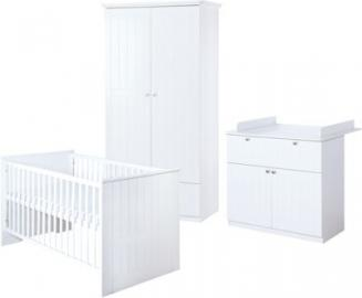 Komplett Kinderzimmer Dreamworld 3, 3-tlg. weiß Gr. 70 x 140