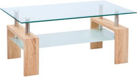 Glas/Sonoma Couchtisch ´´Simla´´ 100x60 cm beige