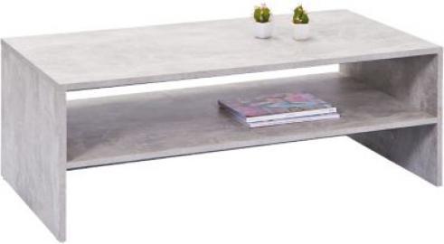 Beton/Hochglanz Couchtisch ´´Opal´´ 115x60 cm grau