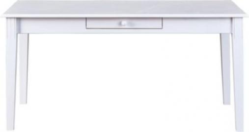 Esstisch ´´Country´´ 160x90 cm, Massivholz weiß