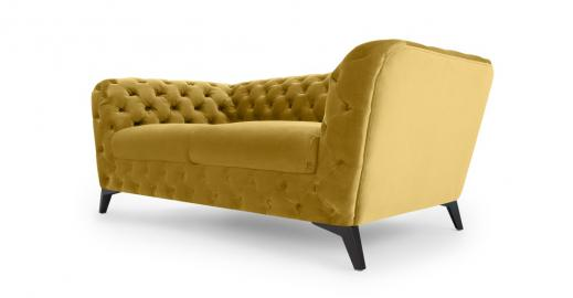 Sloan 2-Sitzer Sofa, Samt in Antikgold - MADE.com