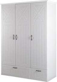 Kleiderschrank CONSTANTIN, 3-tlg., weiß/Canadian white