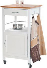 Küchenwagen mit Unterschrank und Schublade weiß