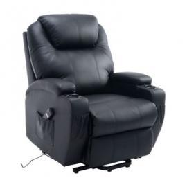 Elektrischer Fernseh-Sessel mit Aufstehhilfe schwarz