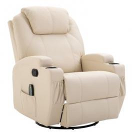 Fernseh-Sessel mit Massagefunktion creme