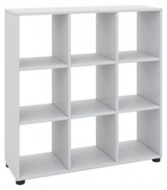 Standregal ´´Benos-4x4´´ 123 x B. 120 x T. 30 cm weiß