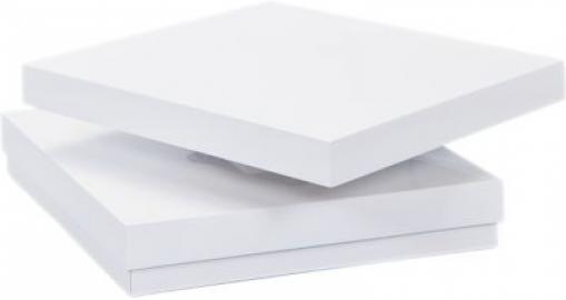 Hochglanz Couchtisch drehbar 75x75 cm weiß